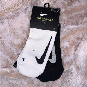 Nike Multiplier Dri-Fit No Show Socks Black/White